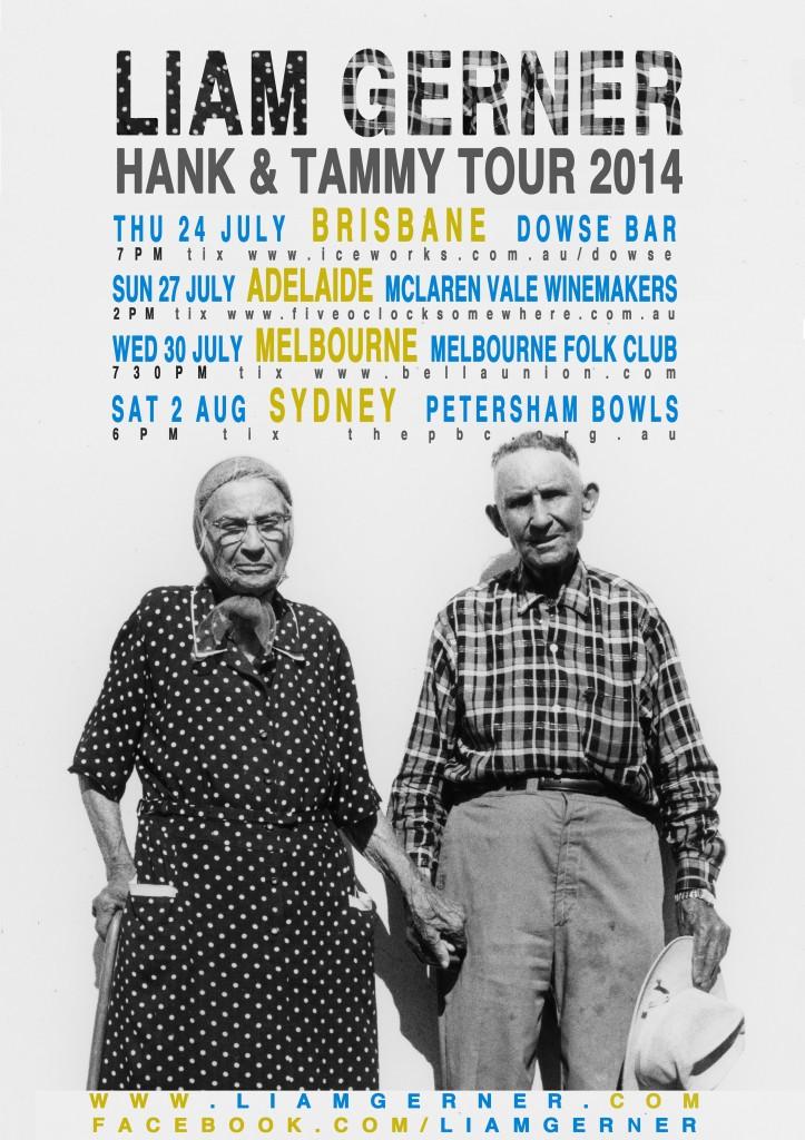 Liam Gerner Hank & Tammy Tour Poster smaller
